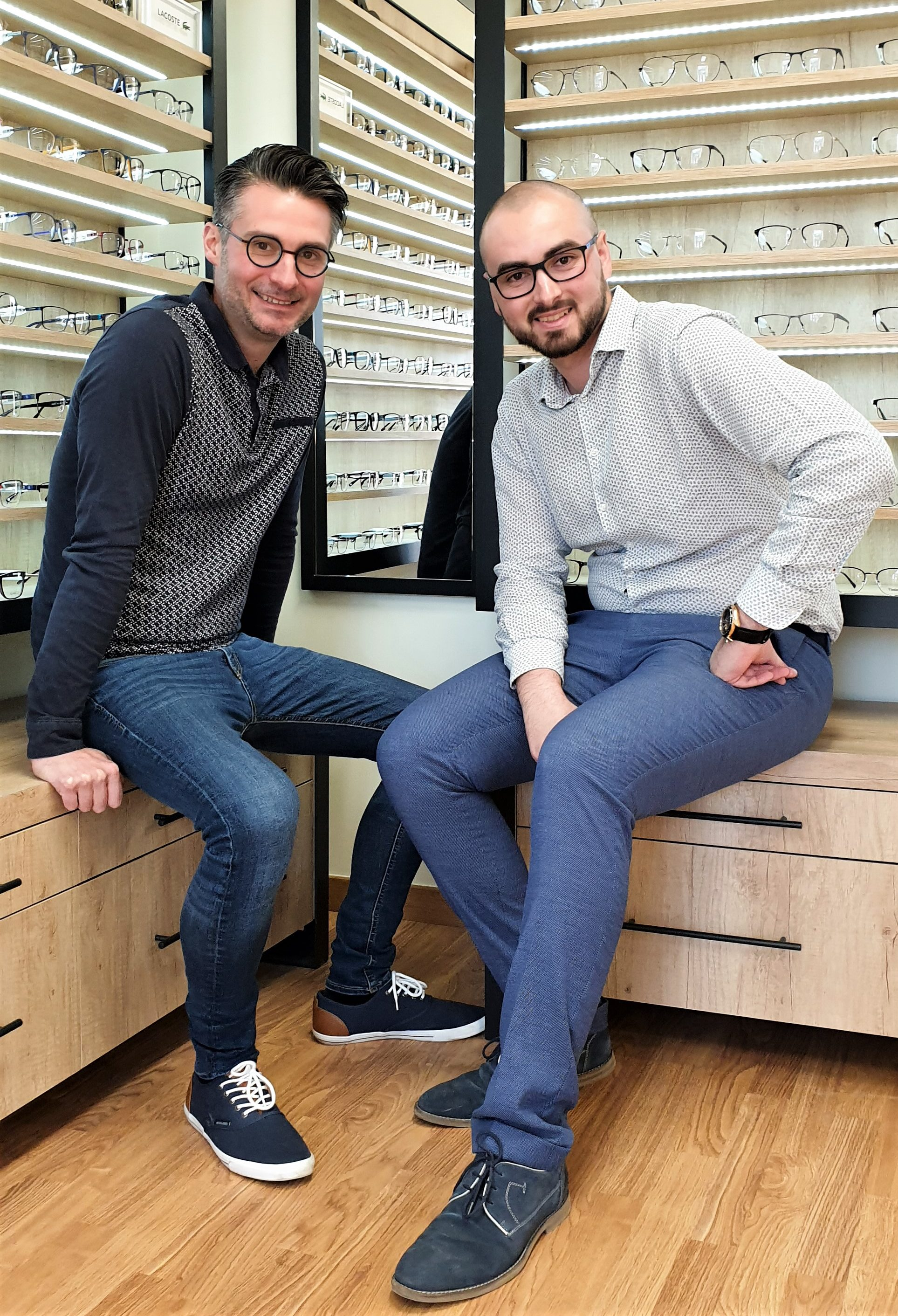 photo représentant les deux fondateurs de l'optique occitane